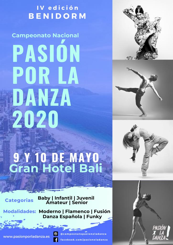 CARTEL PASION POR LA DANZA BENIDORM 2020